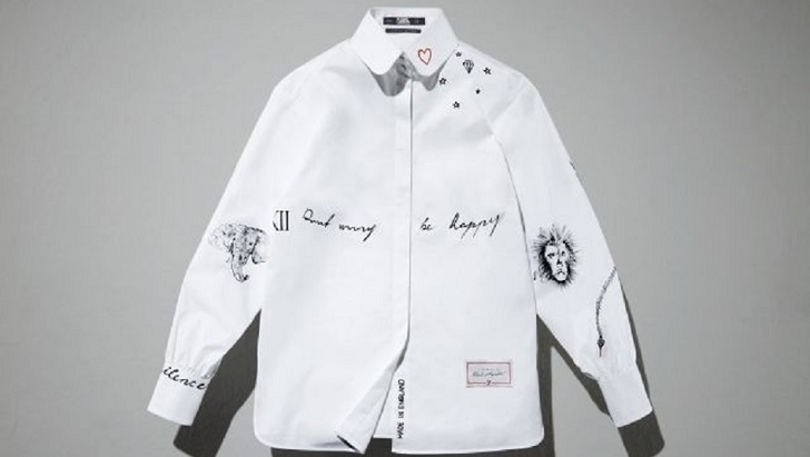 Karl Lagerfeld revamped through its iconic white shirt