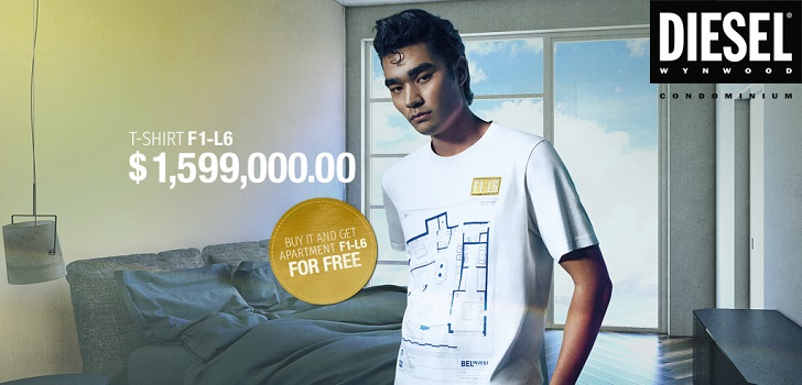 Diesel 2x1: buy a t-shirt and get an apartment in Miami