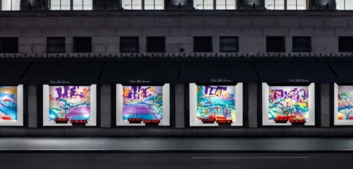 Saks fills Fifth Avenue mural with colors