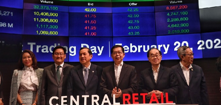 Thai Central Retail goes public and raises $2.48 billion