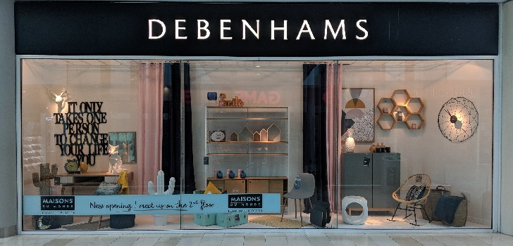 Debenhams to close 19 stores in the UK