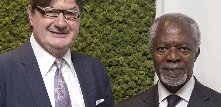 Kofi Annan steps into fashion business and guides Geox in sustainability
