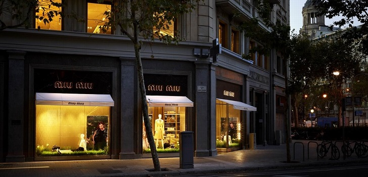 Prada's shop in Barcelona