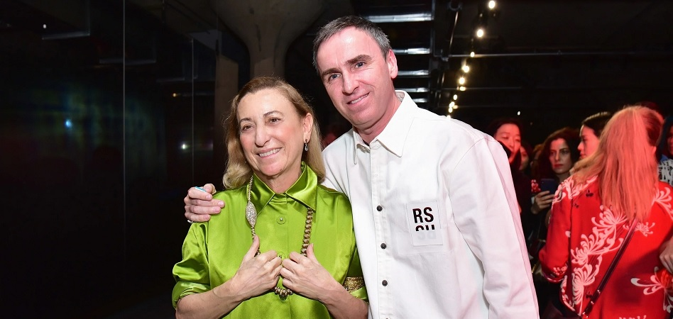 Prada: Raf Simons and Miucca Prada as co-creative directors